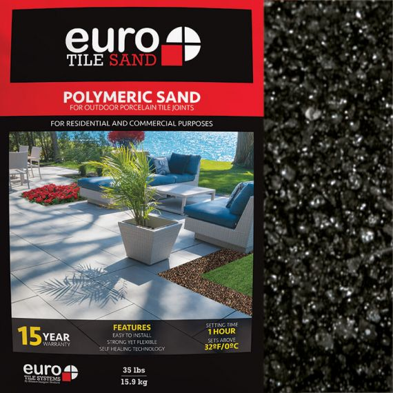 Euro Tile Systems 35lb Polymeric Sand Black Diamond
