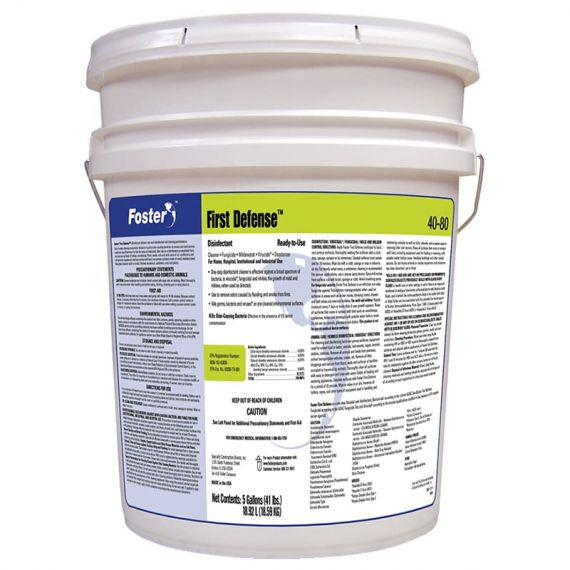 Foster 5Gal First Defense Disinfectant (40-80) Effective Against Covid-19