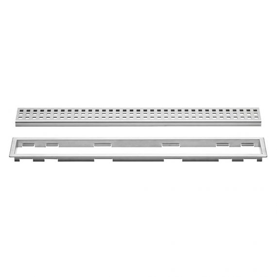 Schluter 20in Kerdi Line Perforated Brushed Stainless Steel Grate