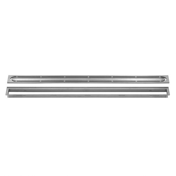 Schluter 20in Kerdi Line Brushed Stainless Steel Grate - Pure Design
