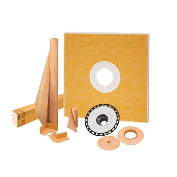 "Schluter KERDI-SHOWER-KIT-FL 48"" x 48"" ABS Flange 2"" Outlet Center"