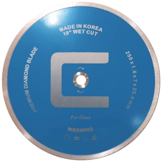 Centura 10in Continuous Rim Diamond Blade Wet Cut (For Glass)