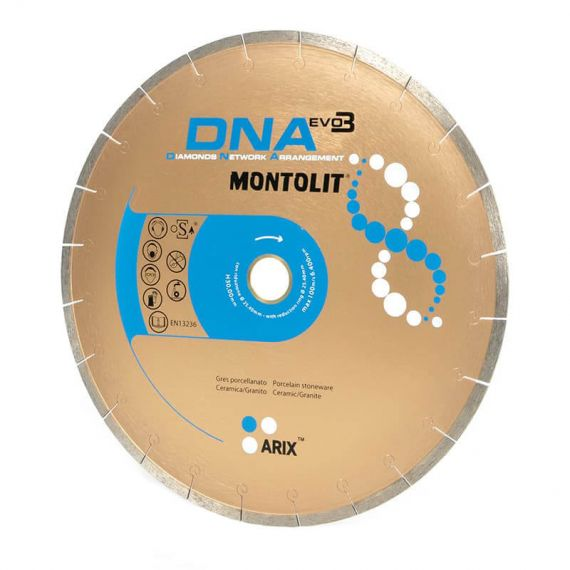 Montolit 10in DNA Diamond Blade with Braze Welded segments Wet Cut