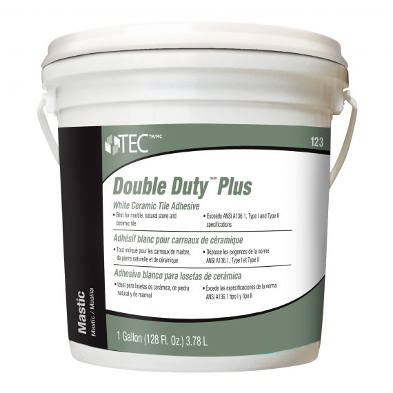 TEC® 1 gal. Double Duty™ Plus White Ceramic Tile Adhesive