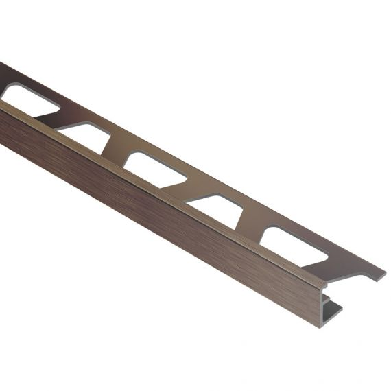 "Schluter JOLLY EDGE TRIM 1/2"" ALUM ANTQ BRONZE"