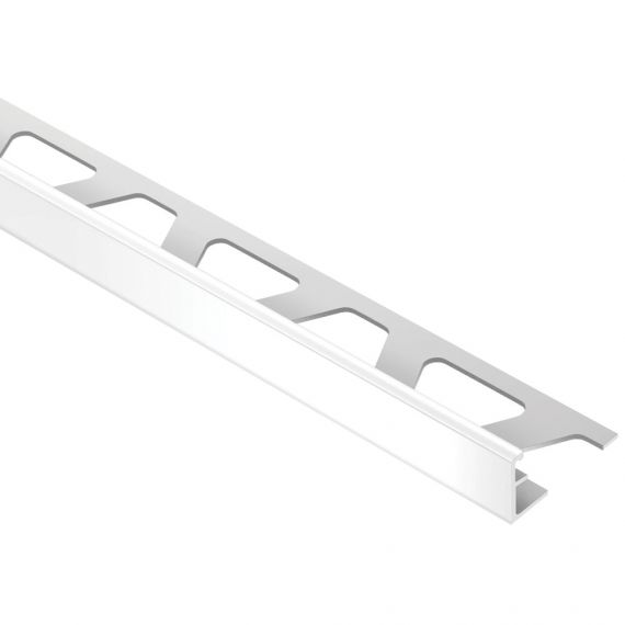 "Schluter JOLLY EDGE TRIM 1/2"" ALUM BRT WHT"