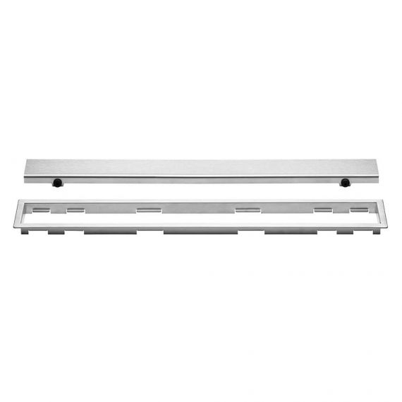 Schluter 24in Kerdi Line Closed Brushed Stainless Steel Grate