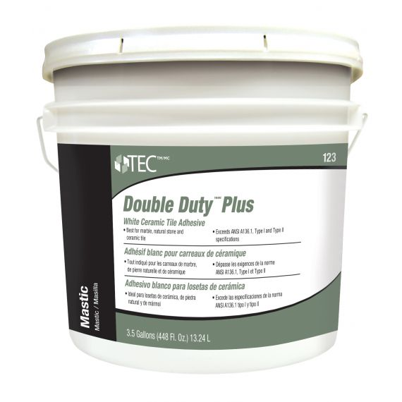 TEC® 3.5 gals. Double Duty™ Plus White Ceramic Tile Adhesive