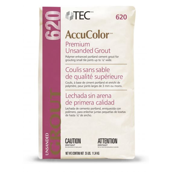 TEC® 9.75 lbs. AccuColor® Premium Unsanded Grout, 910 Bright White