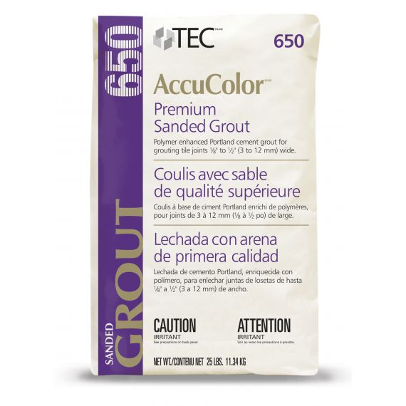 TEC® 9.75 lbs. AccuColor® Premium Sanded Grout, 910 Bright White