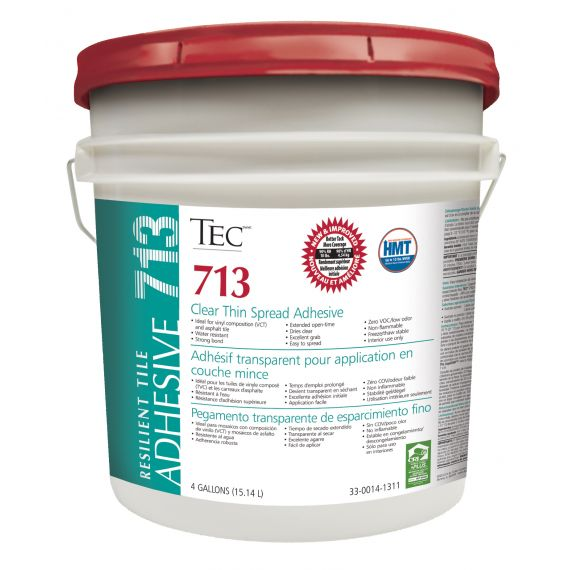 TEC® 713 Clear Thin Spread Adhesive 4 gals.