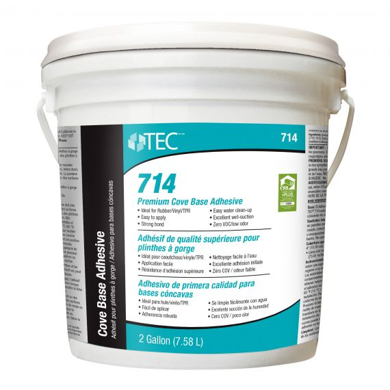TEC® 714 Premium Wall and Cove Base Adhesive 2 gals. (Tan)