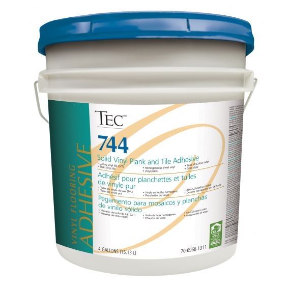 TEC® 744 Solid Vinyl Plank and Tile Adhesive 4 gals.